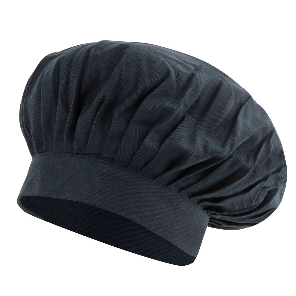 Toque noire 30x30cm 100% coton - Alice Délice