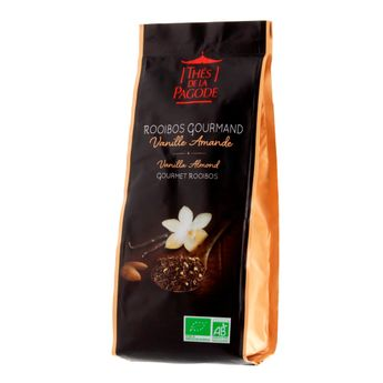 Achat en ligne Rooibos bio gourmand vanille amande 100gr - Thés de la Pagode