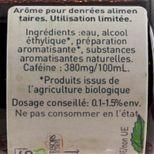 Arôme alimentaire bio café 58 ml - Trésors de Chefs