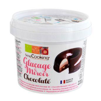 Préparation pour glaçage miroir chocolaté 220gr - Scrapcooking