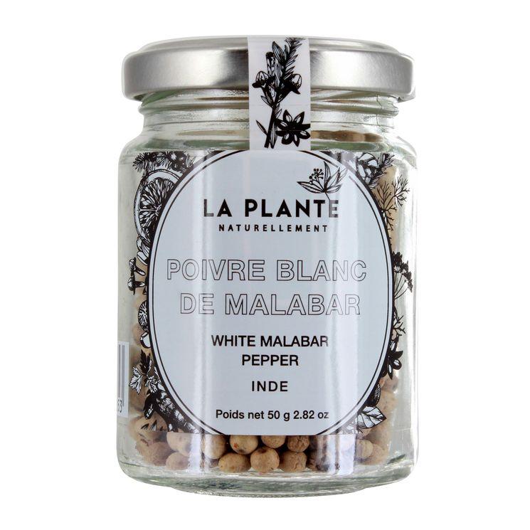 Poivre blanc malabar BIO 50g - La Plante