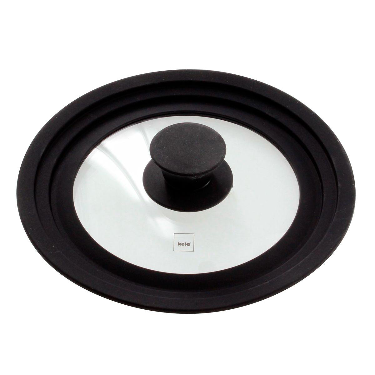 Couvercle en verre et silicone multi-diamètres de 16 à 20 cm - Kela