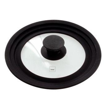 Achat en ligne Couvercle en verre et silicone multi-diamètres de 16 à 20 cm - Kela