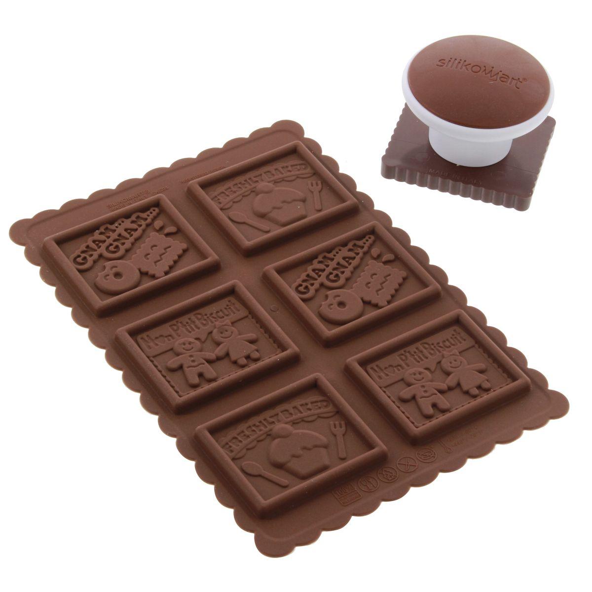 Kit moule à biscuits Gnam Gnam - Silikomart