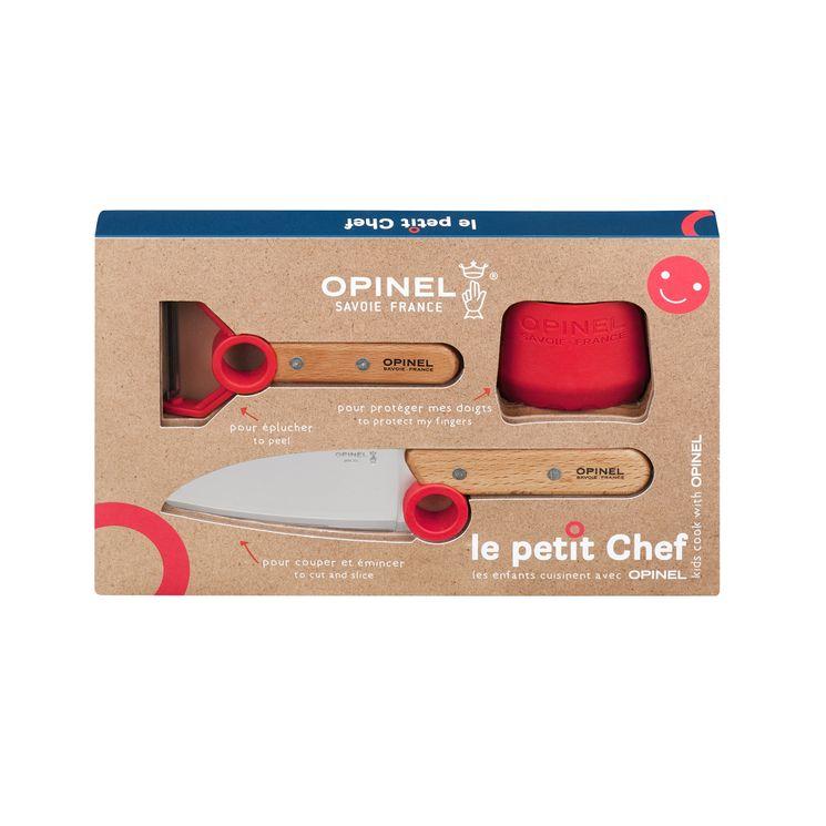Coffret petit chef : couteau. éplucheur et protége doigt - Opinel