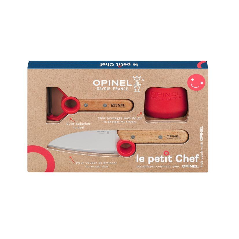 Coffret petit chef : couteau, éplucheur et protége doigt - Opinel
