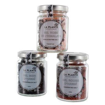 Coffret trio de sels rouge rose et noir - Alice Delice