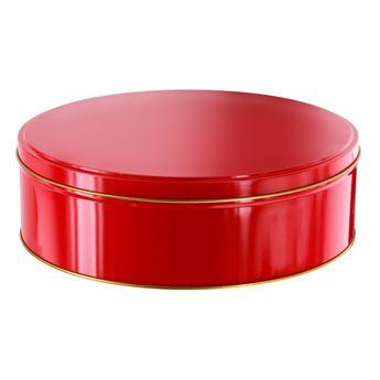Boite à biscuits ronde en métal cranberry 22 x 7 cm - Zodio