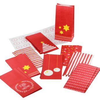Achat en ligne Kit calendrier de l´avent 24 sachets + 24 stickers - Birkmann