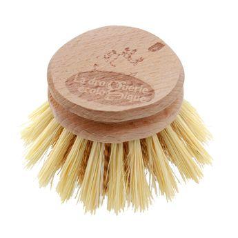 Achat en ligne Recharge tête de brosse à vaisselle en fibres de laiton et bois de hêtre non traité 5.7 cm - La droguerie écologique