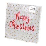serviettes 33*33 cm Christmas Confetti red