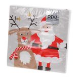 Serviettes 25*25 cm Santa & Deer