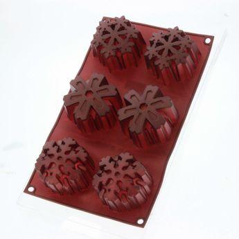 Moule en silicone 6 flocons de Noël 7 cm - Birkmann