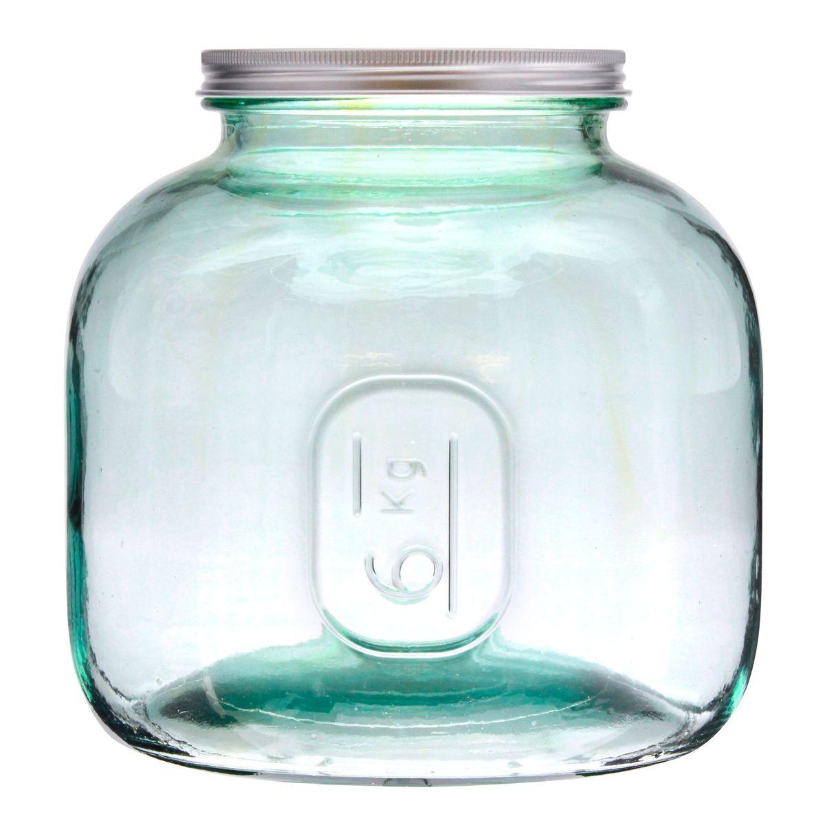 Bocal en verre recyclé 6 kg - Vidrios