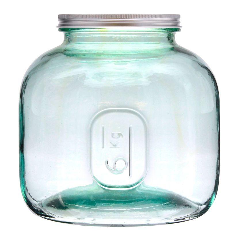 Boîte de conservation en verre recyclé 6 L - Vidrios