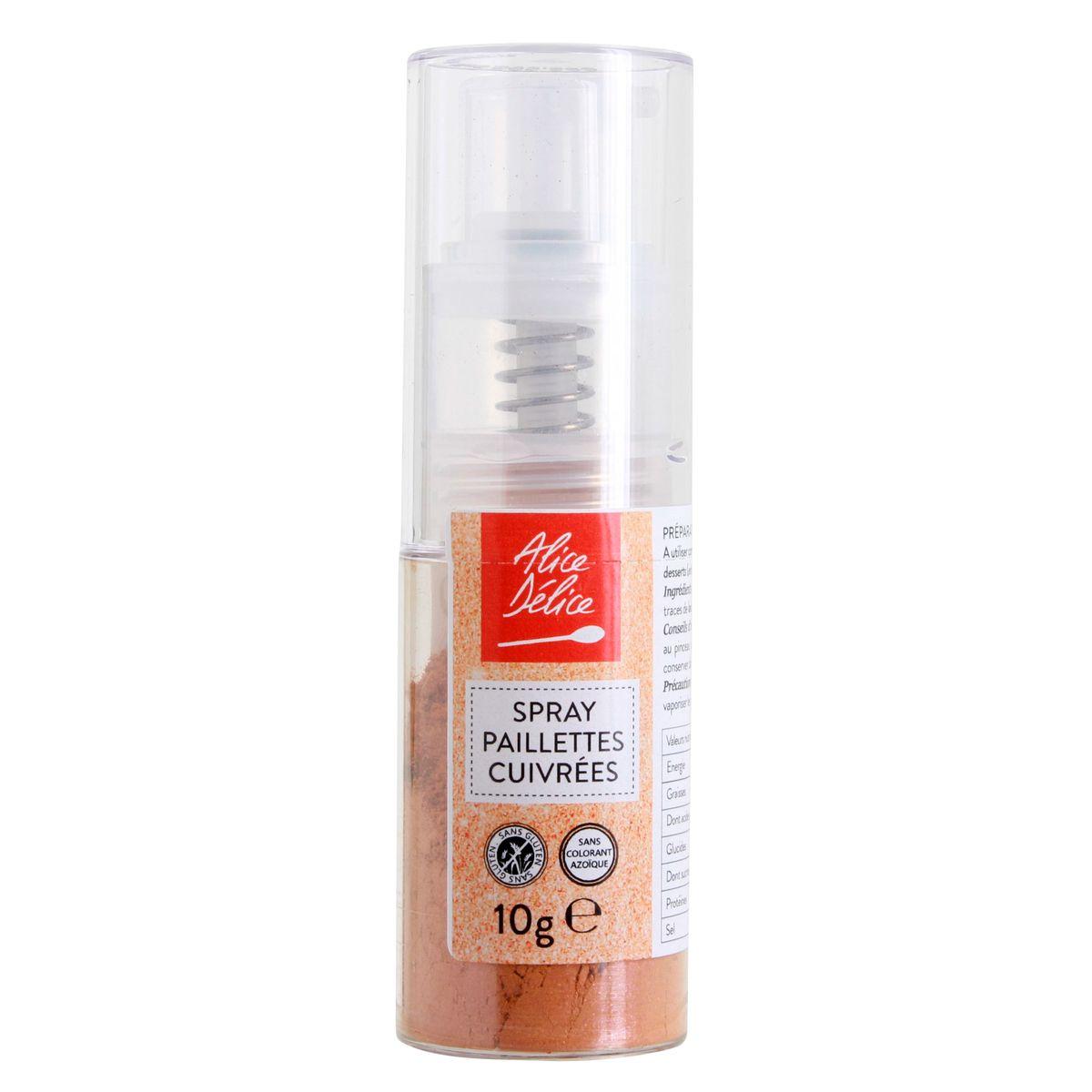 Spray paillettes cuivrées 10 gr - Alice Délice