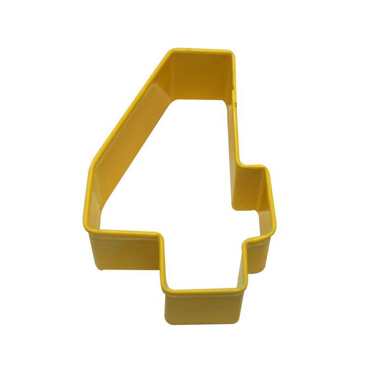 Emporte pièce jaune chiffre 4 - Anniversary House