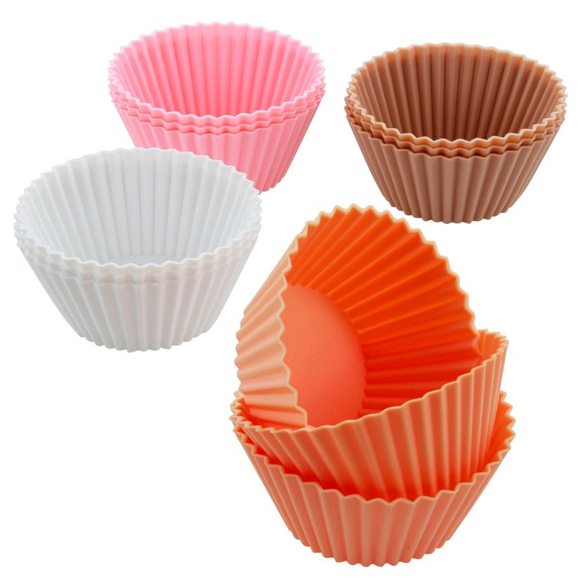 12 moules silicone muffins & cupcakes - Alice Délice