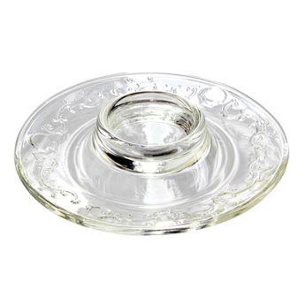 Achat en ligne Coquetier assiette en verre versailles - La Rochère