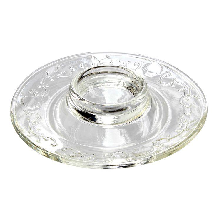 Coquetier assiette en verre versailles - La Rochère