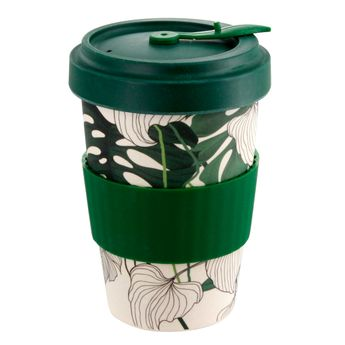 Mug nomade en fibre de bambou jungle 500ml - Point Virgule