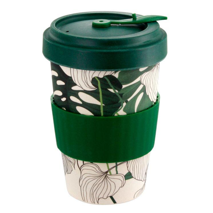 Mug nomade en fibre de bambou jungle 500ml - Point Virgule
