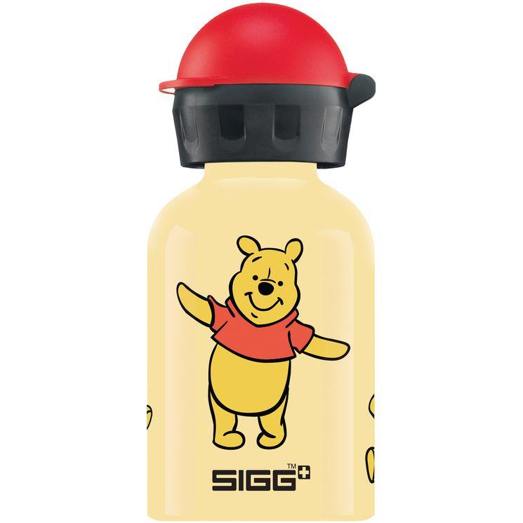 Petite bouteille Winnie l´Ourson jaune et rouge 30 cl 15.2 x 6.6 cm - Sigg