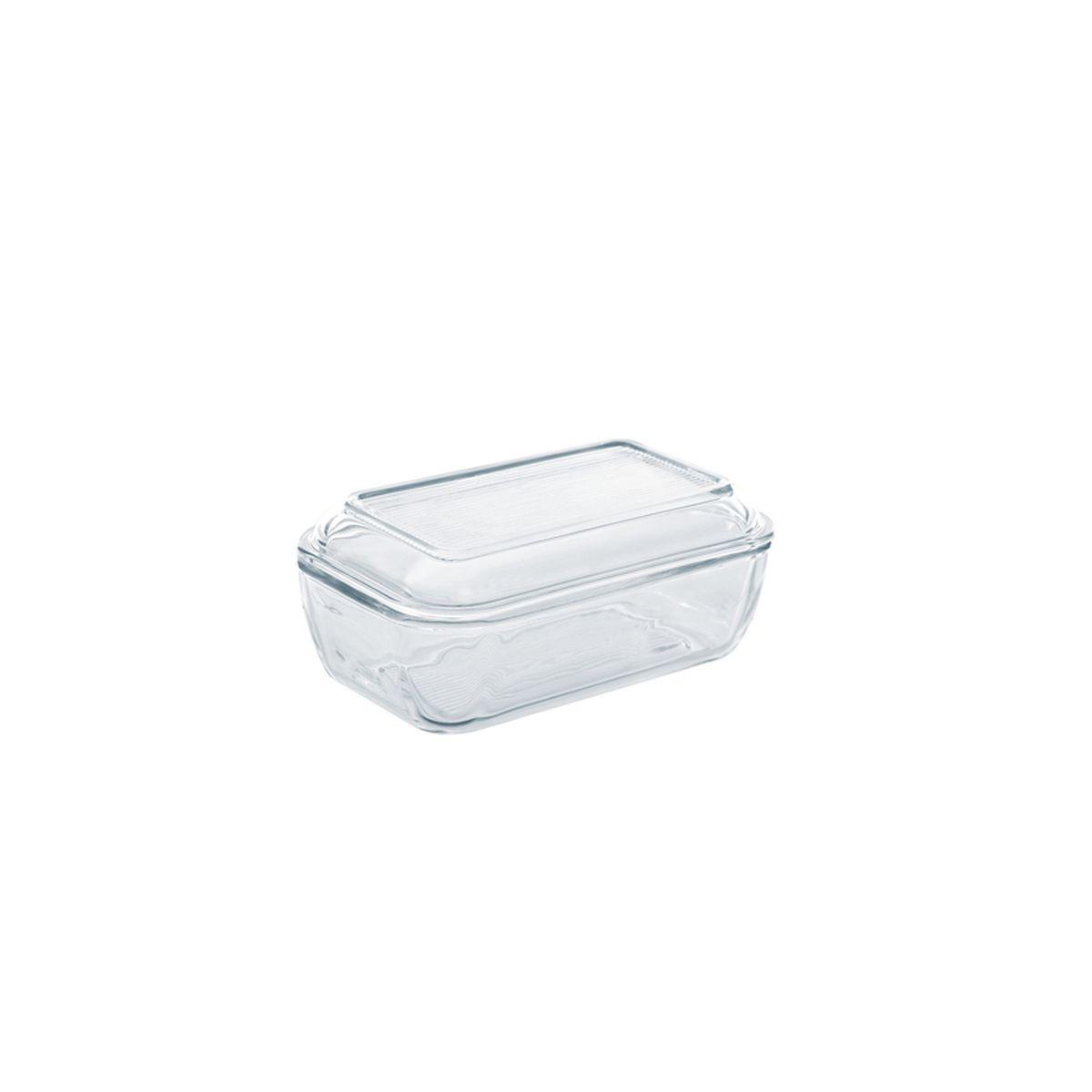 Beurrier rectangulaire avec couvercle en verre 19x11.3cm - Luminarc