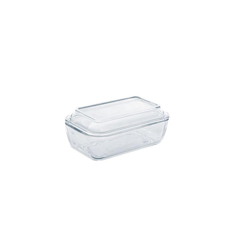 Beurrier rectangulaire avec couvercle en verre 19 x 11.3 cm - Luminarc