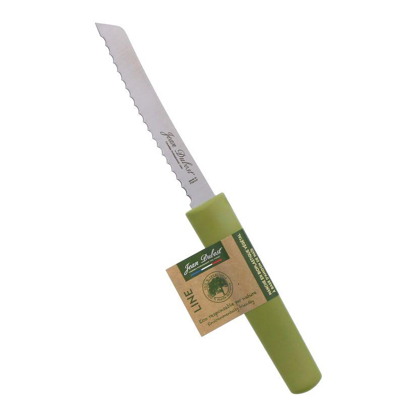 Couteau cranté vert - Jean Dubost