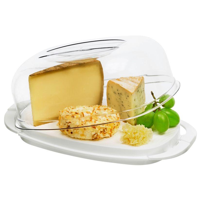 Boite à fromages en plastique blanc 10.5 x 17 x 29 cm - Rotho