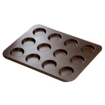 Achat en ligne Moule 12 mini tartelettes anti adhérent 24.5 x 32 cm - Gobel