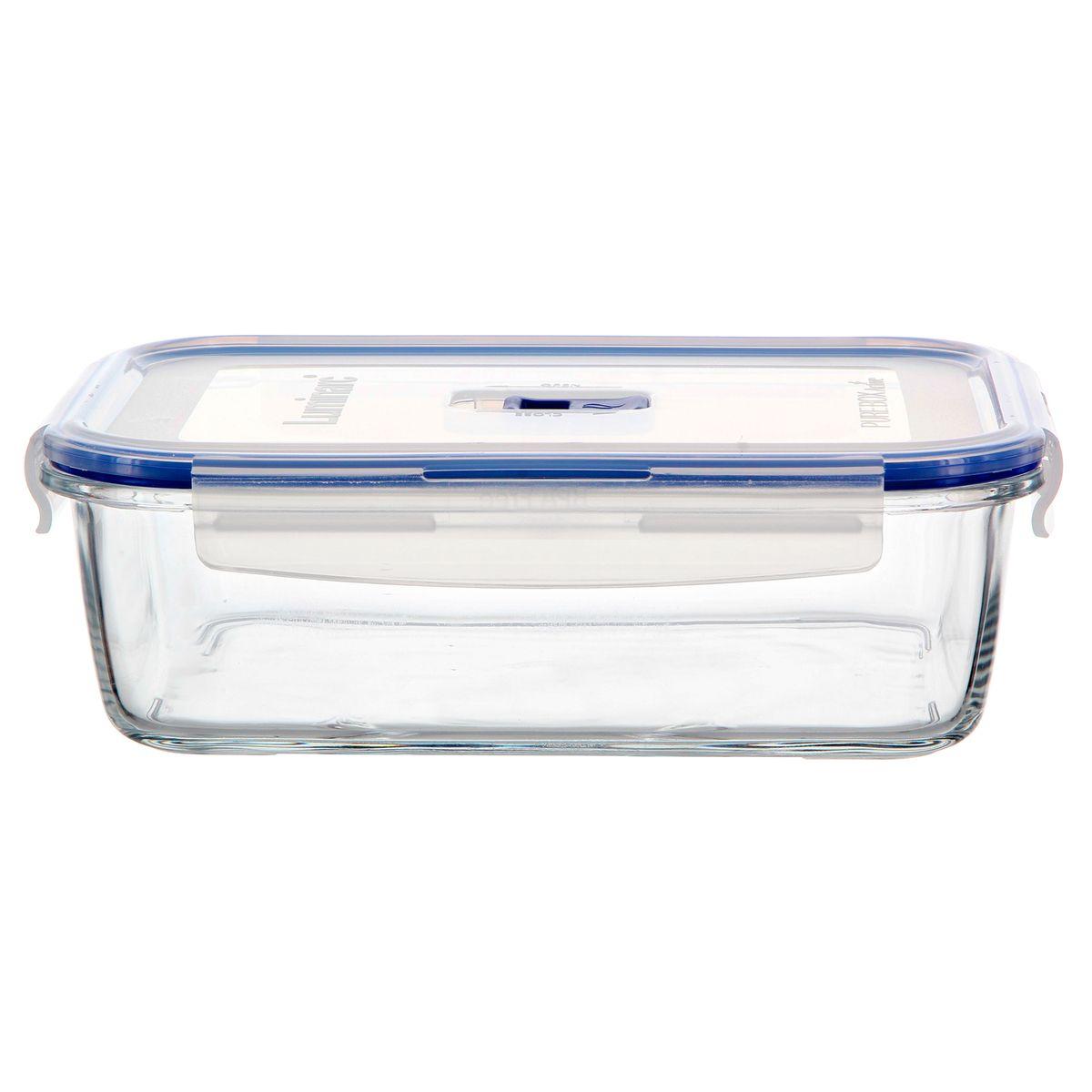 Boite hermétique Pure Box rectangulaire en verre 197 cl 7.9 x 18 x 24.2 cm - Luminarc