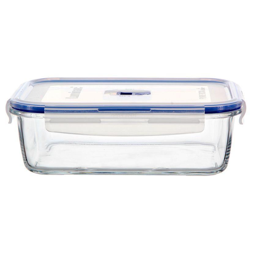 Boite hermétique Pure Box rectangulaire en verre 197cl 7.9x18x24.2cm - Luminarc