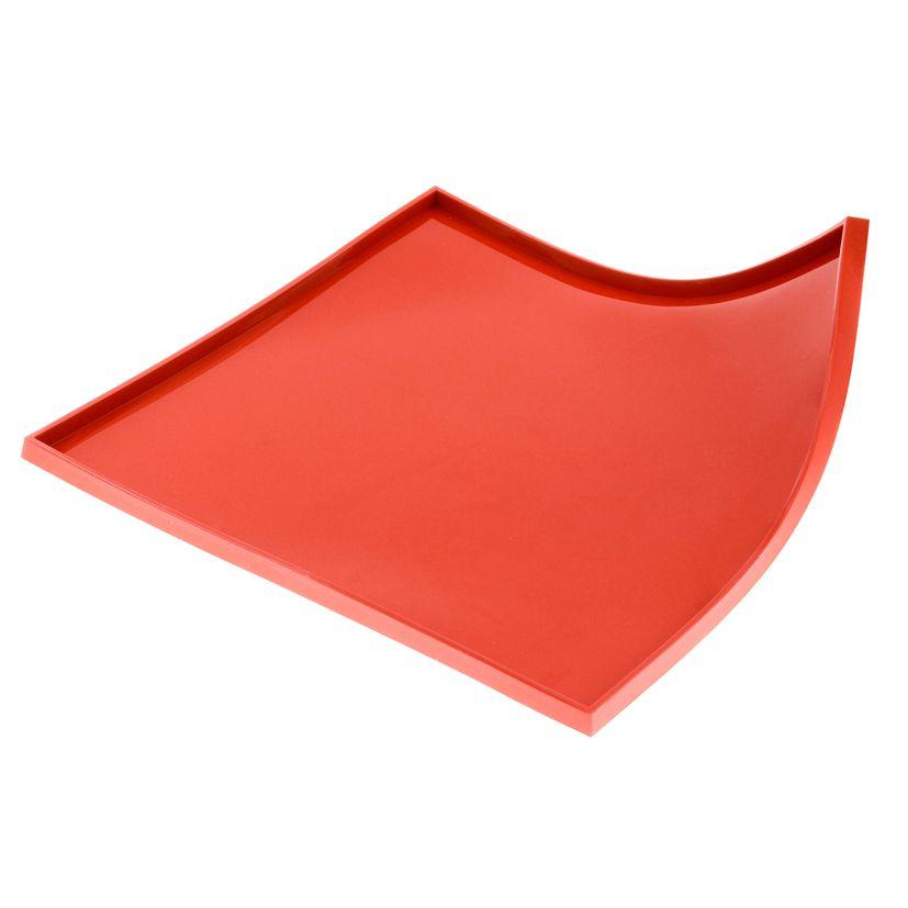 Tapis à génoise carré avec rebord en silicone rouge 32.5 cm - Silikomart