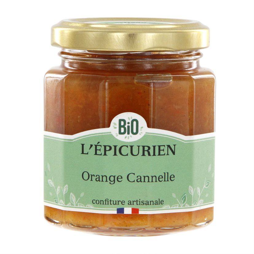 Confiture orange canelle bio 210 g  - L´Epicurien
