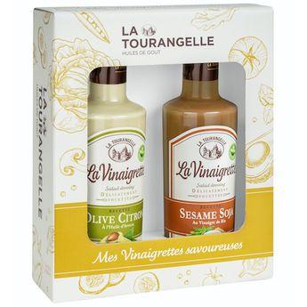Duo Vinaigrettes du monde Olive-Citron, Sésame-Soja - La Tourangelle