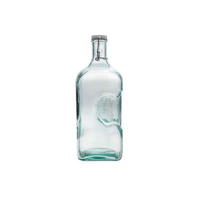 Bouteille en verre recyclé avec bouchon mécanique 2 L - Alice Delice