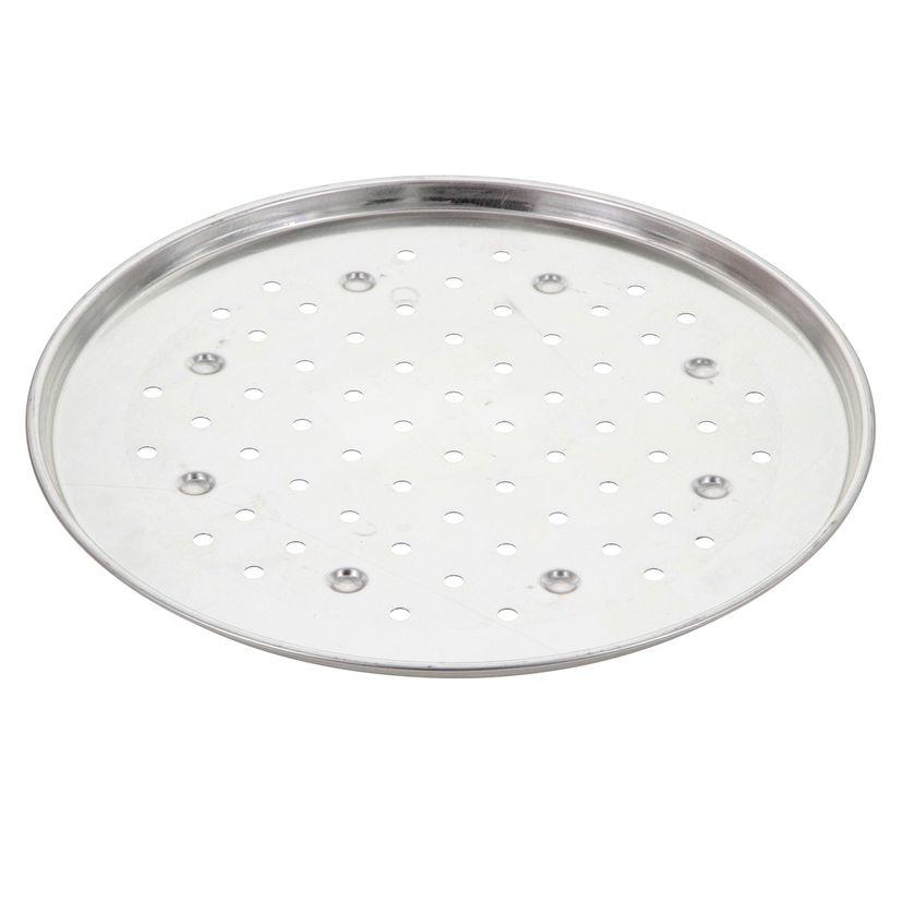 Plaque à pizza perforée fer blanc 34cm perforée - Alice Délice