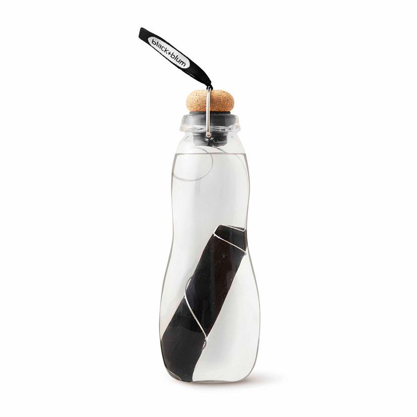 Bouteille en verre Eau Good noire - Black & Blum