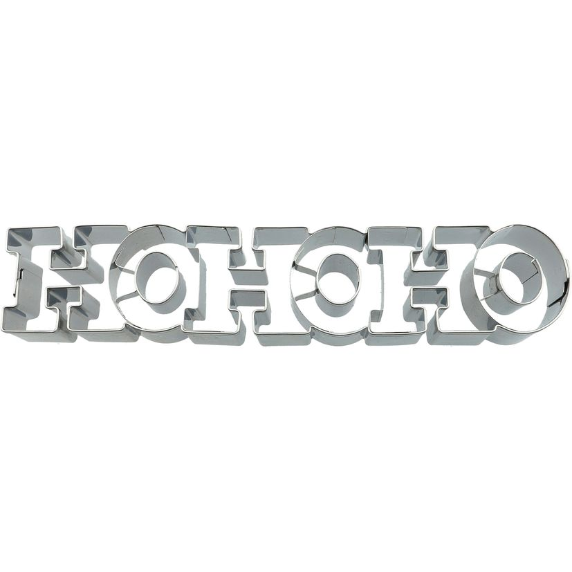 Emporte-pièce en inox message HOHOHO Noël 17.5 cm - Birkmann