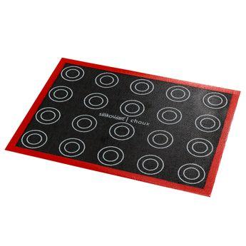 Achat en ligne Tapis en silicone micro perforé avec empreintes noir et rouge 30 x 40 cm - Silikomart