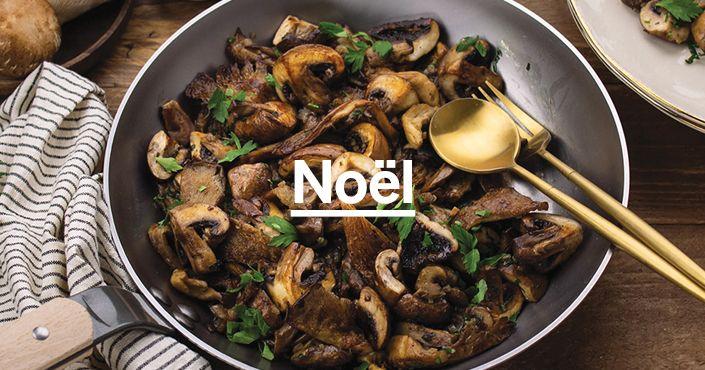 Poêlée de champignons et légumes de saison