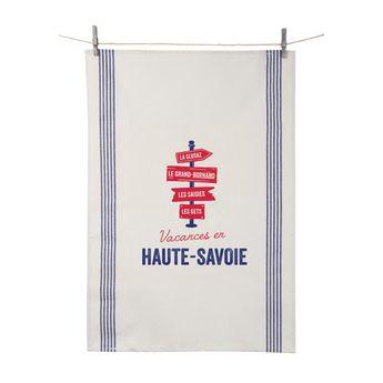 Achat en ligne Torchon Vacances en Haute Savoie 55x80 cm 100% coton - Tissage de L´Ouest