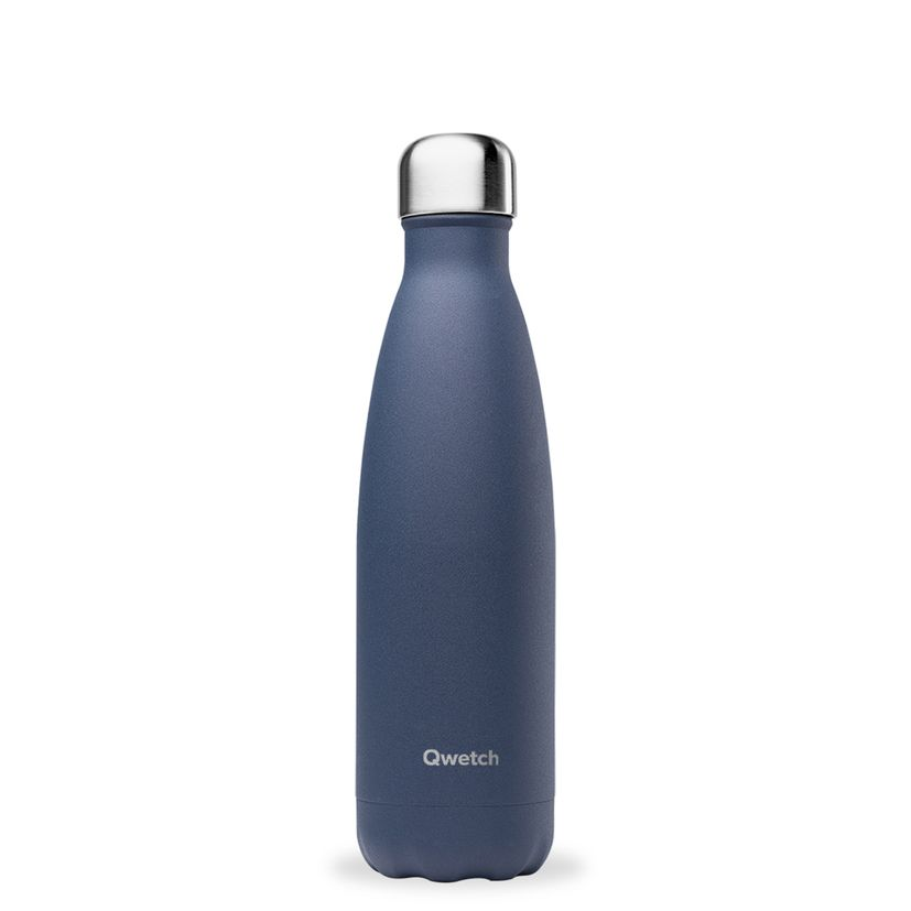 Bouteille isotherme inox 500ml bleu nuit - Qwetch