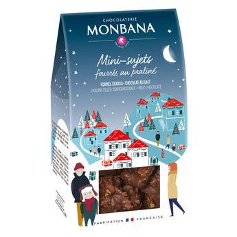 Achat en ligne Mini sujets noel chocolat lait 130g - Monbana