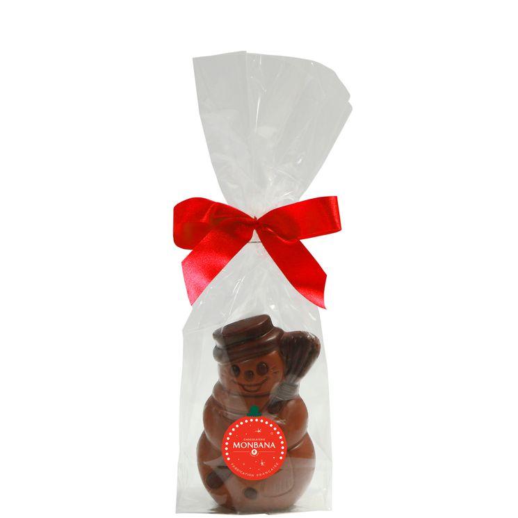 Bonhomme de neige chocolat au  lait 50g - Monbana
