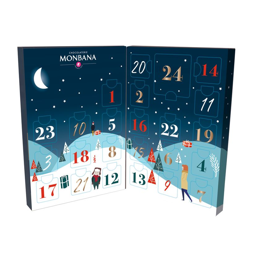 Le calendrier de l'avent illustre 97g - Monbana