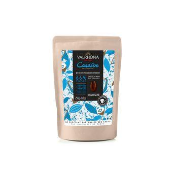 Achat en ligne Chocolat noir à pâtisser Caraibe 66%  250g - Valrhona