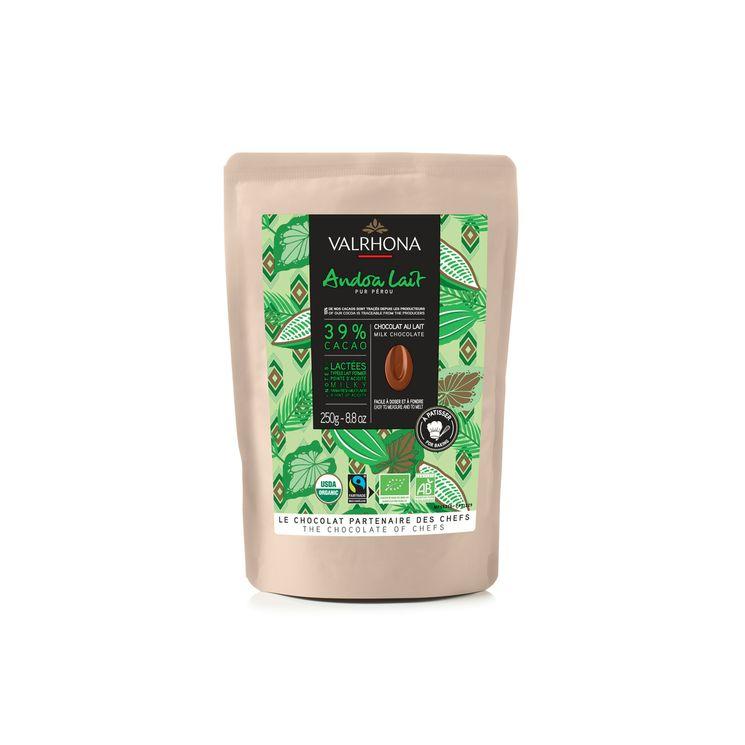 Chocolat au lait Andoa Lait Bio Equitable 39% 250g - Valrhona